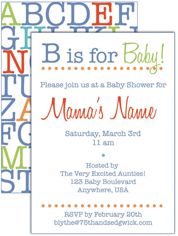 Alphabet / ABC baby shower