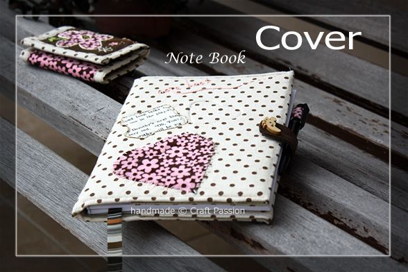 Note Book Cover Tutorial & Pattern, Front Cover