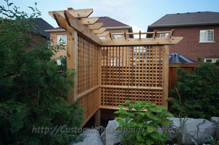 Pergola styled fence | Outdoor Ideas | Pinterest