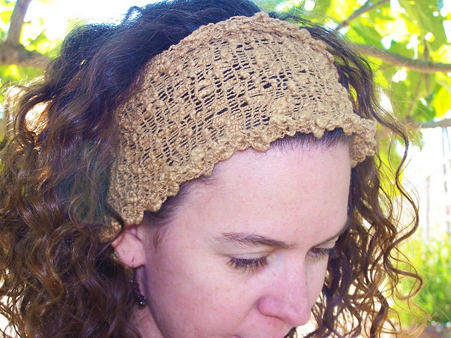 hand knit summer headband | woolen | Pinterest