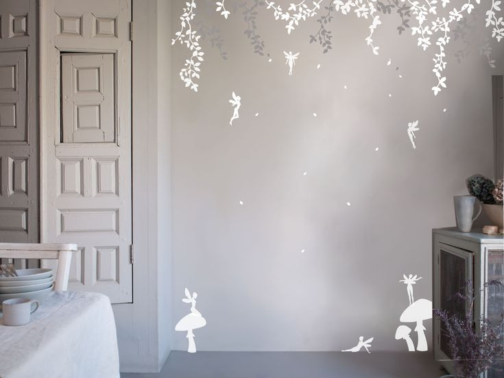 enchanted fairy forest wall sticker for the home pinterest enchanted forest trees fabric wall decals by pop amp lolli