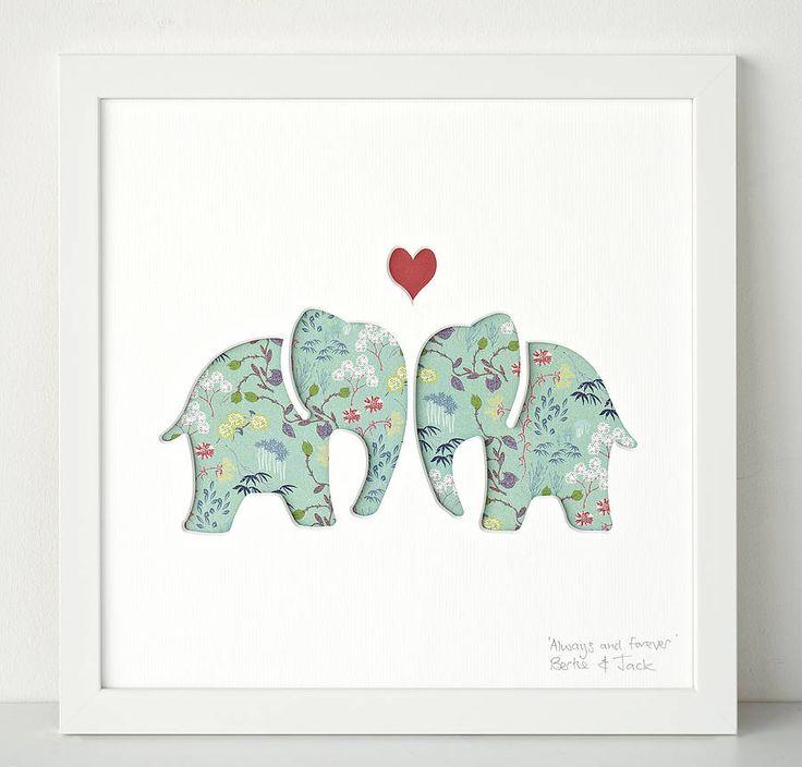 Wedding Gift Art : original ellys personalised wedding gift art by bertie & jack ...
