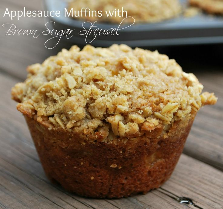 Applesauce Muffins with Brown Sugar Streusel