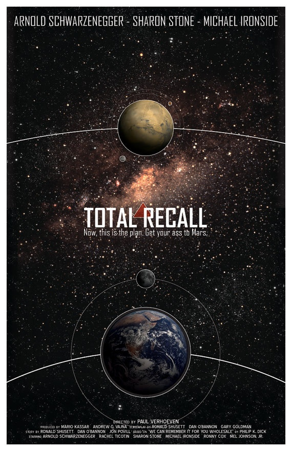 Science fiction #movies #total #recall #mars #futuristic #space opera