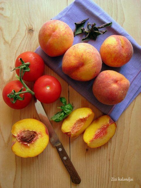 ... peach tomato and basil salad recipe tomato prosciutto peach basil and