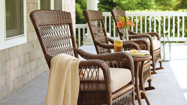 Frontgate_ front porch rocking chair  Interior Design  Pinterest