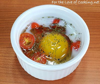 Baked Egg with Tomato and Dill | Yummygood | Pinterest