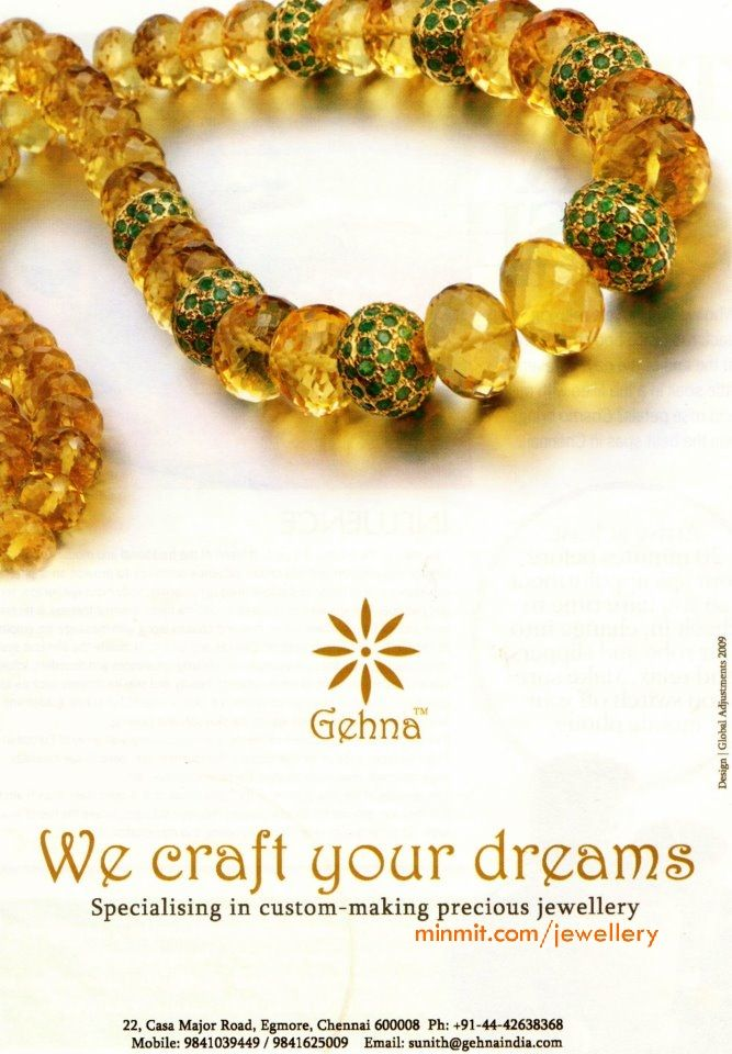 beads-necklace-with-emeralds-from-gehna | Jewellery diy | Pinterest