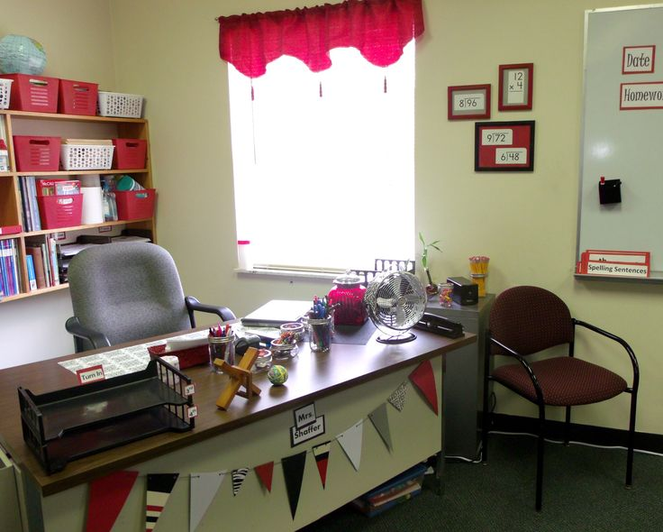 Red Classroom Decor : Elementary classroom red white black