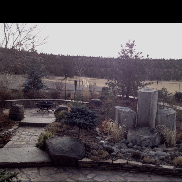 Outdoor Fire Pit And Water Feature Photography Pinterest