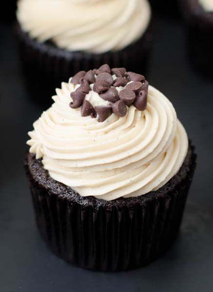 Mocha Chocolate Chip Espresso Cupcakes | .Nom, Nom, Nom. | Pinterest