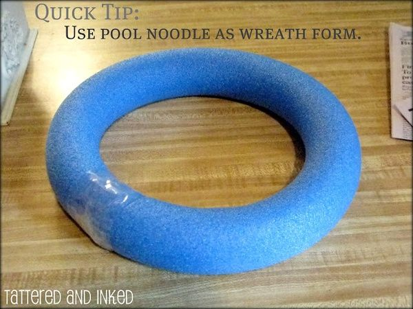 10 Fun Uses for Pool Noodles Outside the Pool!! {{most of these are great ideas for kids but I love the idea of using it in place of a foam wreath!}}