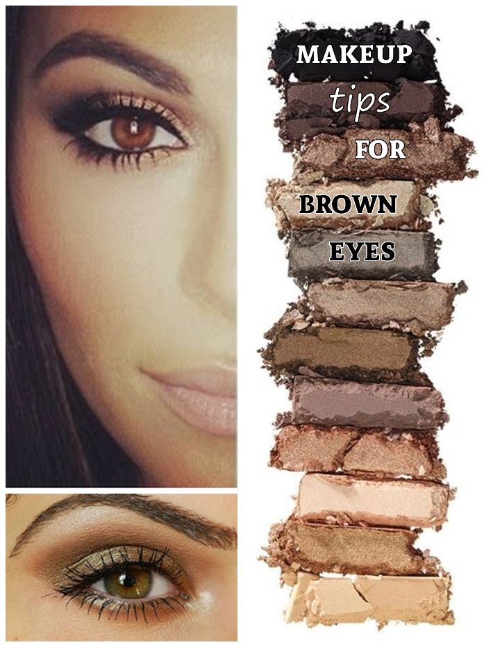 Makeup for brown eyes and brown hair