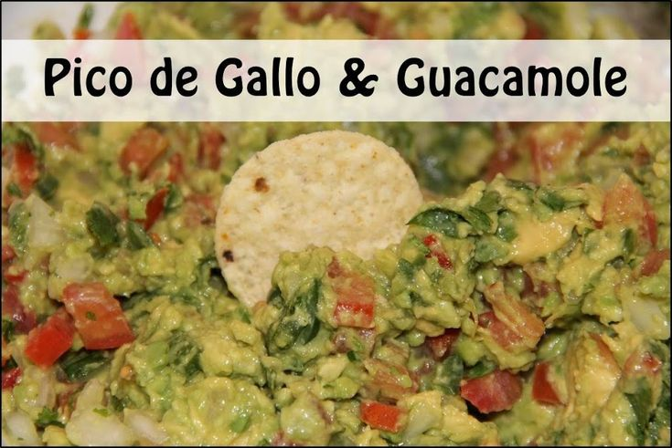 Pico De Gallo And Guacamole Recipe — Dishmaps