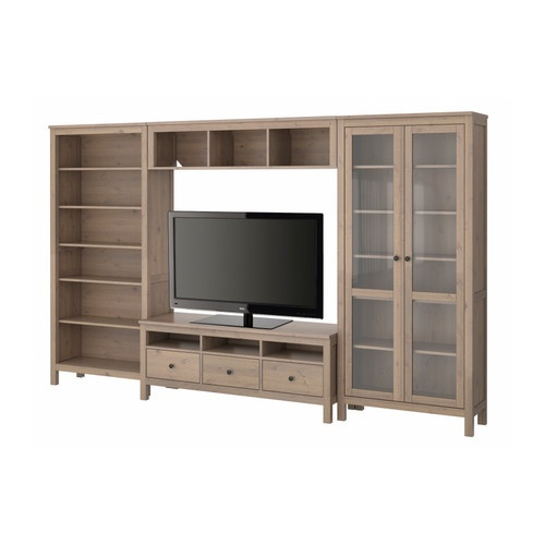 hemnes tv storage combination ikea hizzy pinterest