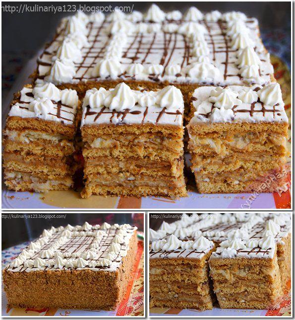 Слоеный торт рецепт