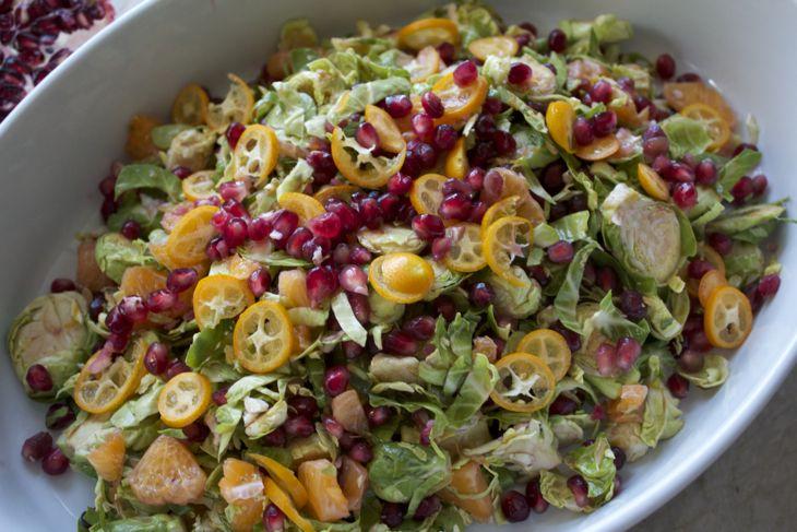 citrus pomegranate terrine brussels sprout pomegranate citrus salad ...
