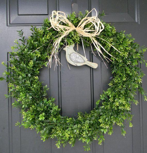 Summer wreaths boxwood wreath faux boxwood wreath year round wreat
