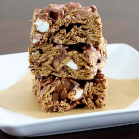 ... make sure mom puts some on the side for us. Golden Grahams S'more Bars