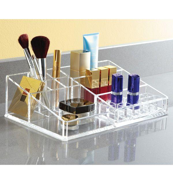 Acrylic Makeup Organizer Organization Pinterest