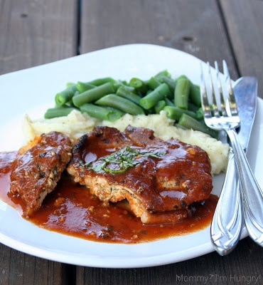 Cheese and pesto stuffed pork chops | Food & Drink | Pinterest