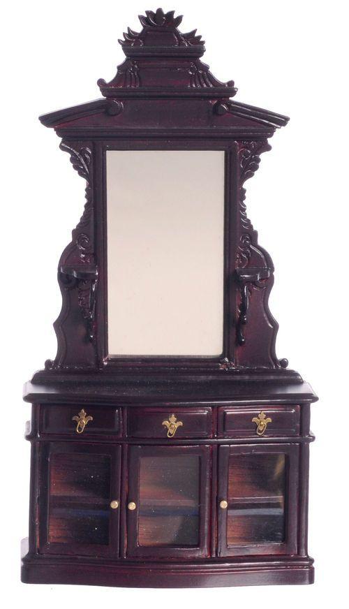 Victorian bedroom vanity : Dollhouse miniature bespaq victorian vintage vanity mirror
