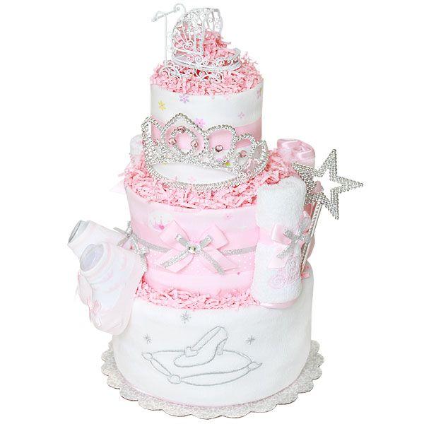 Cinderella Baby Carriage Diaper Cake