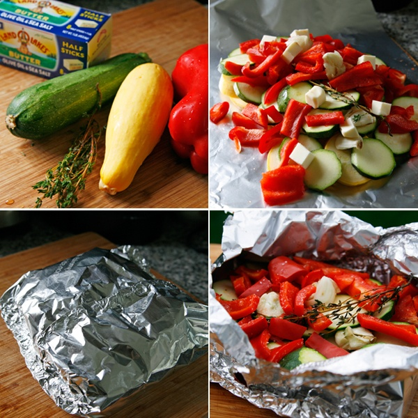 Butter Herb Grilled Summer Veggie Packets | Recipe