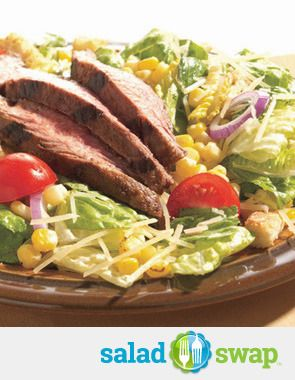 STEAK TACO SALAD WITH ROASTED CORN | Try Soon ~ Foods & Recipes | Pin ...