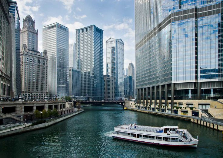 Chicago River Boat  Ultimate Beauty Of The USA  Pinterest