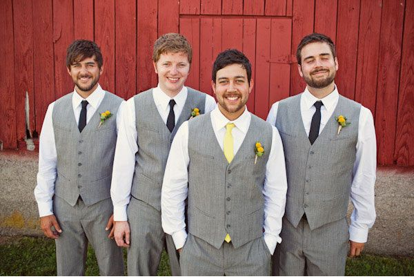 gray groomsmen vests