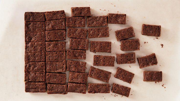 Mocha shortbread with chocolate niblets