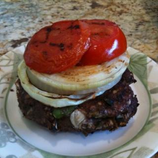 Bunless Bison Burger, Take 2--Grilled lean ground bison chockfull of ...