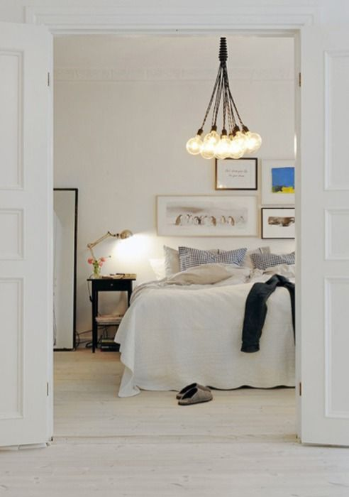 white bedroom with light fixture awesome rooms spaces pintere