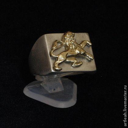 мужское серебрянное кольцо