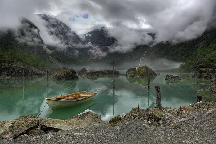 Winner of the Wikimedia 2011 Picture of the Year - by Heinrich Pniok: A view of Lake Bondhus in Norway, and in the background of the Bondhus Glacier, part of the Folgefonna Glacier. #Photography #Wikimedia #Picture_of_the_Year_2011 #Lake_Bondhus #Norway #Heinrich_Pniok