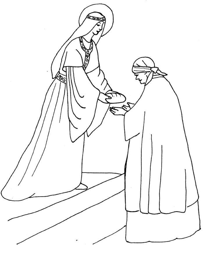 St Elizabeth Of Hungary Coloring Page Coloring Pages And Elizabeth Coloring Pages