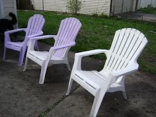 How To Spray Paint Plastic Chairs Outdoors Pinterest