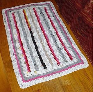 Easy Crochet Rag Rug Pattern rag rugs Pinterest