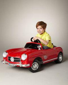 Red mercedes benz 300sl kids 6v toy toy ride on electric for Mercedes benz electric car for kids