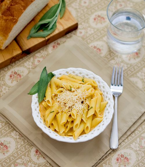 Penne With Pumpkin And Sage Sauce Recipes — Dishmaps