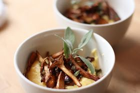 Feasting at Home: Chanterelles with Creamy Polenta and Sage
