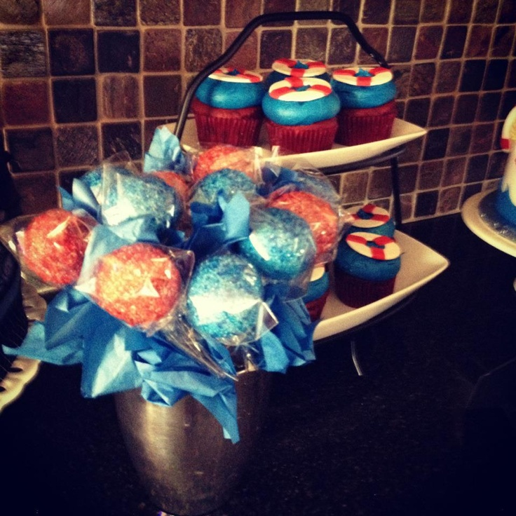 ... baby shower cupcakes and cake pops made by: Mind Over Batter, Tempe