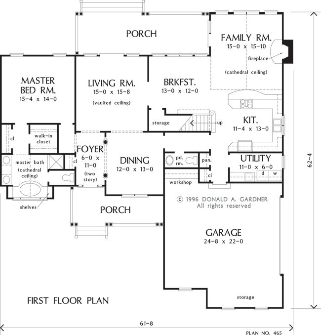 Ilike the family room off kitchen | house plans | Pinterest