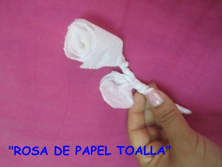 Tutorial rosas de papel toalla manualidades con papel - Manualidades con papel ...
