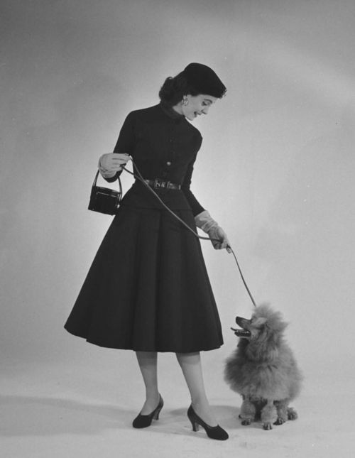 1950s day fashion photographed by Nina Leen