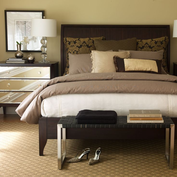 woven leather bench ethan allen us bedroom pinterest
