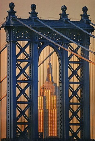 Manhattan Bridge Empire State Building photo by Mitchell Funk