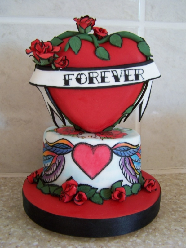 Tattoo wedding cakes adult themed party ideas pinterest for Tattoo party ideas