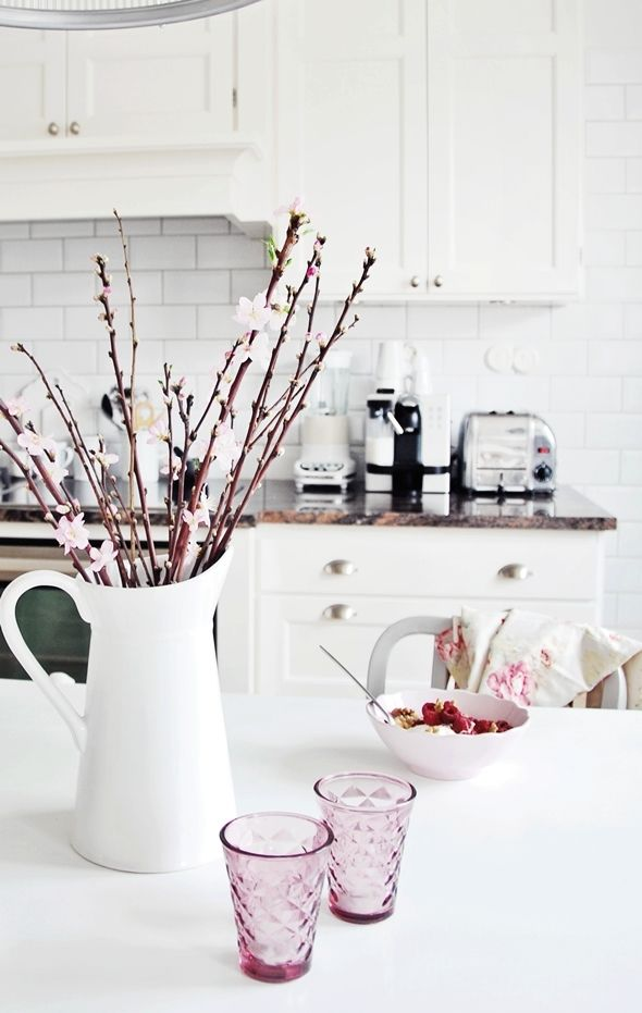cherry blossoms in the kitchen via My Paradissi Blog #CreativeKitchen